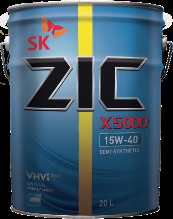 ZIC X5000 CI-4/SL 15W-40, 20л